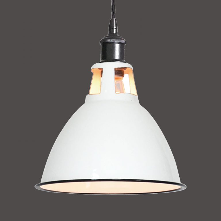 MD6172-WH 1940s style industrial pendant light white